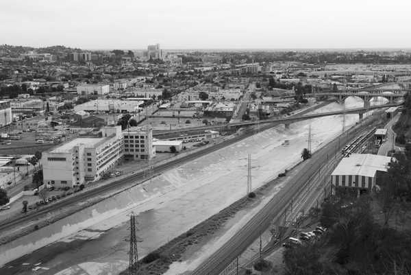 The Los Angeles River from Elysian Park