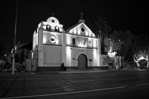 La Placita at night